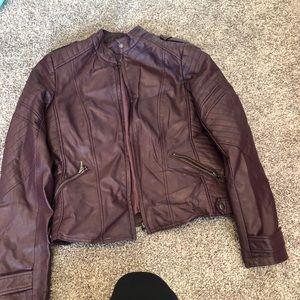 INC Leather Jacket Medium